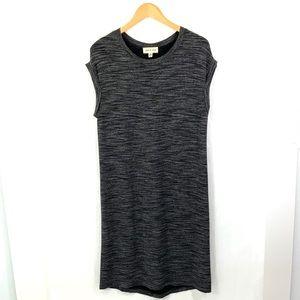 CLOTH & STONE Dark Gray Cap Sleeve Shirt Dress